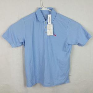 Tommy Bahama Supima Cotton Light Blue Polo NWT